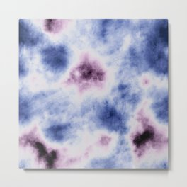 blue purple tie dye Metal Print