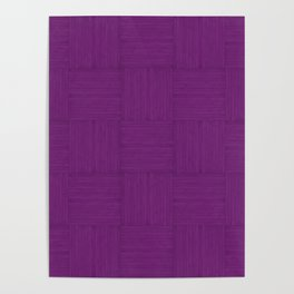 Purple Faux Bois Wood Pattern Poster