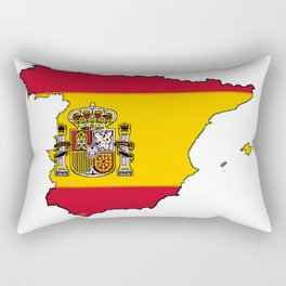 Spain Map with Spanish Flag Rectangular Pillow