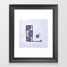L l Framed Art Print