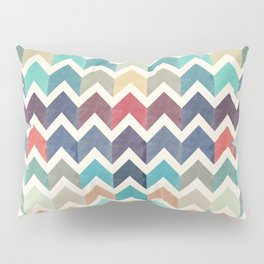 Watercolor Chevron Pattern Pillow Sham