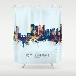Fort Lauderdale Florida Skyline Shower Curtain
