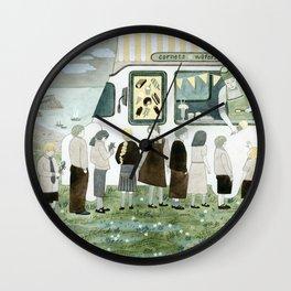 Ice Cream Queue Wall Clock
