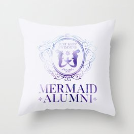 Mermaid Alumni Throw Pillow