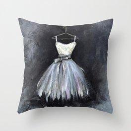 Ballerina Dress 2 - Painting Throw Pillow