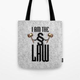 I am the law / 3D render of section sign holding judges gavels Tote Bag