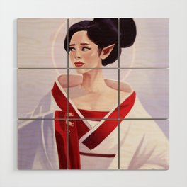 Elf Lady Painting Wood Wall Art