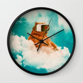 Living On The Cloud Wall Clock