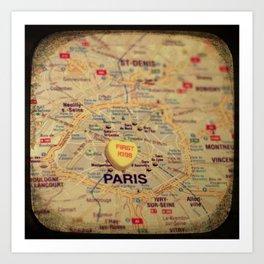 First Kiss Paris Art Print