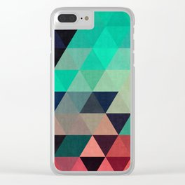Triangular Composition VII Clear iPhone Case