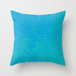 metal wire green blue Throw Pillow