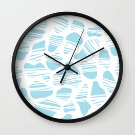 Okapi Animal Print [Island Blue] Wall Clock