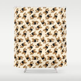 Fawn Frenchie Puppy Shower Curtain