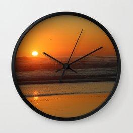 Sunset Beach Seascape Wall Clock