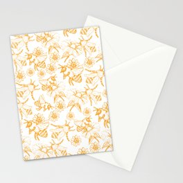 Aesthetic and simple bees pattern Stationery Cards