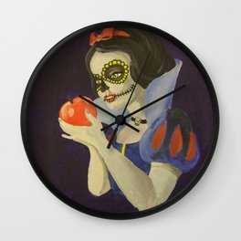 Day of the dead snow white Wall Clock
