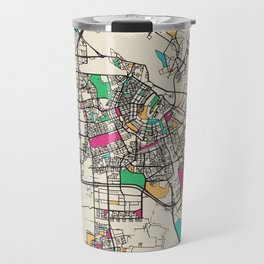 Colorful City Maps: Amsterdam, Netherlands Travel Mug
