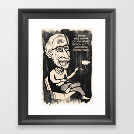 Question Everything Framed Art Print