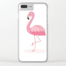 Animated Flamingo Clear iPhone Case