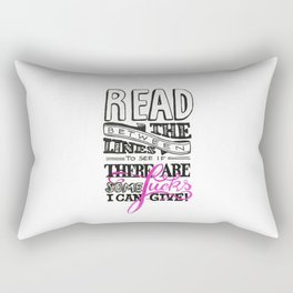 Read between the lines… Rectangular Pillow