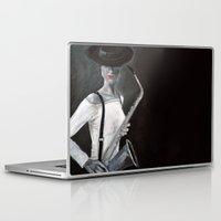 saxophone Laptop & iPad Skins featuring woman with saxophone by Anja Kidrič AdAk