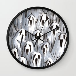 sad ghosts Wall Clock