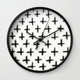 Painted Cross Pattern Wall Clock