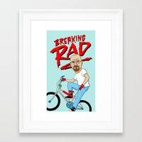 breaking Framed Art Prints featuring Breaking Rad by Chris Piascik