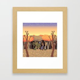 Over the Garden Pixel Framed Art Print