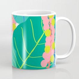 Elephant Ear Leaves + Sea Grapes Coffee Mug