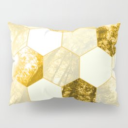 Geometric Forest in Golds Pillow Sham
