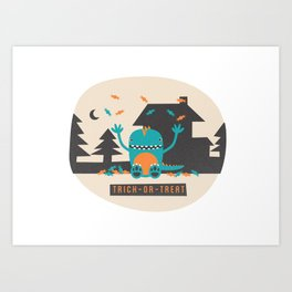 Trick-or-Treat Art Print