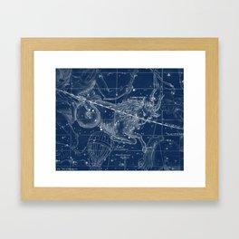 Capricorn sky star map Framed Art Print