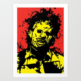 August 18, 1973: Bloodstain Leatherface (color combination A) Art Print