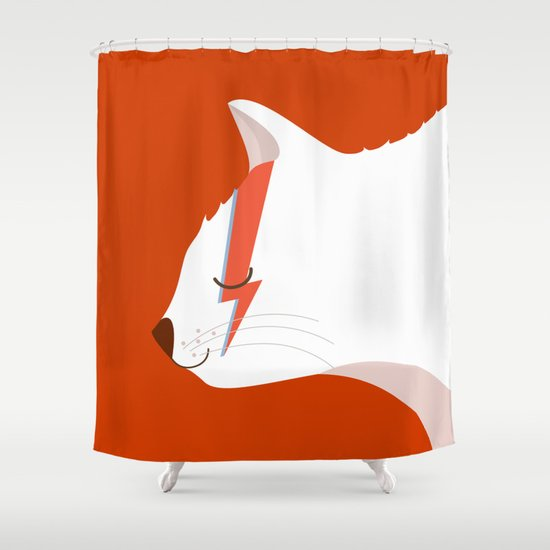 David Meowie Shower Curtain