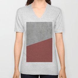 Concrete with Chili Oil Color Unisex V-Neck