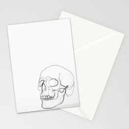 Skull Line Drawing Stationery Cards