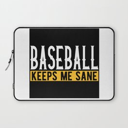 Baseball Lover Gift Idea Design Motif Laptop Sleeve