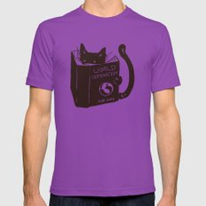 World Domination for Cats (Green) LARGE Ultraviolet Mens Fitted Tee