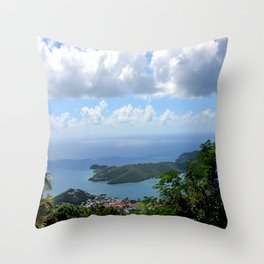 Over the Clouds in St Thomas Throw Pillow