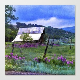 Purple Dames Rocket Ranch Saturated by CheyAnne Sexton Canvas Print