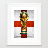 world cup Framed Art Prints featuring World Cup by Rothko