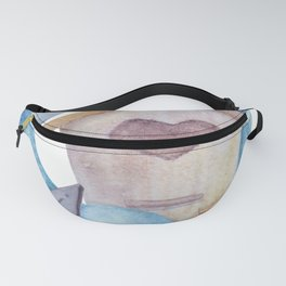 Watercolor Christmas Birdhouse Christmas Cookies Fanny Pack
