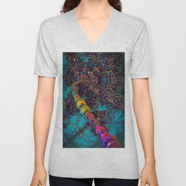 Connecting to the Psychedelic Brain II Unisex V-Neck