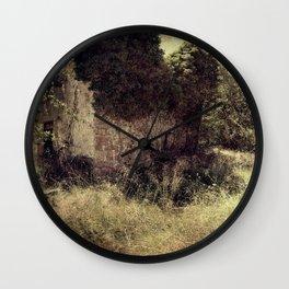 Vintage forgotten town Wall Clock
