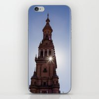 spain iPhone & iPod Skins featuring Square Spain - Seville, Spain by Richard Torres Photo