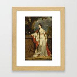 Joshua Reynolds - Elizabeth Gunning, Duchess of Hamilton and Argyll - circa 1760 Framed Art Print