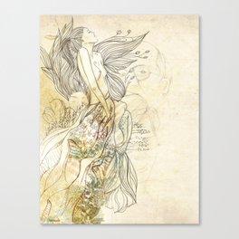 sonho dourado Canvas Print