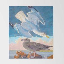 Herring Gull Throw Blanket