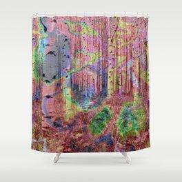 Trippy Forest 2 Shower Curtain